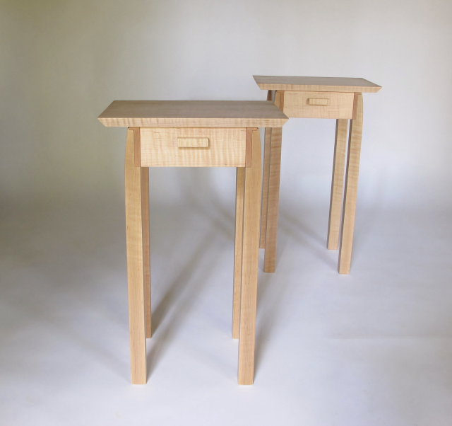 Captivating A Pair Of End Tables With Drawer Storage. Small, Narrow End Tables For Your