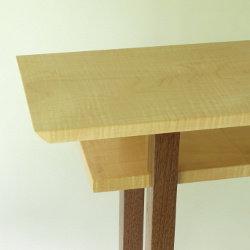 Custom furniture- custom narrow side table, solid wood accent table, entry console table, narrow hall table- Solid wood furniture handmade in the USA