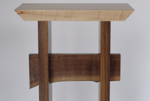 A live edge table stretcher is available on live edge walnut and live edge cherry tables