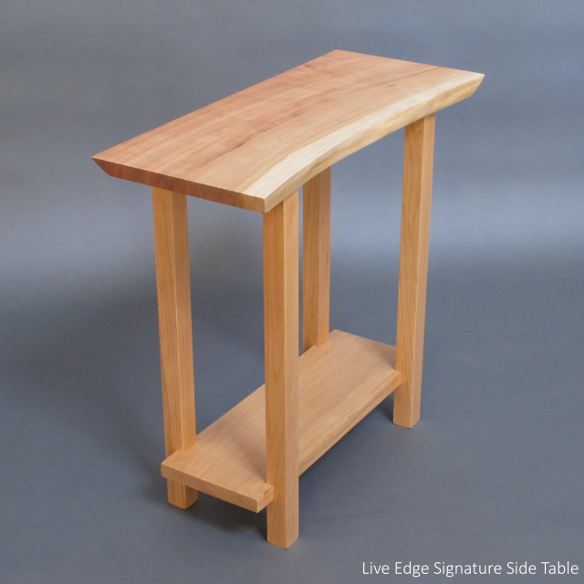 Live edge narrow side table perfect for a small entryway table, small hall table, for front door, accent table- handmade wood furniture