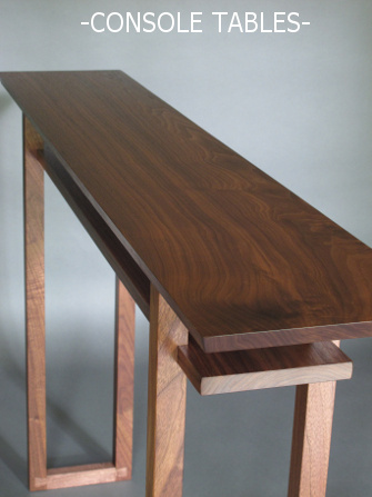 Our handmade wood console tables are perfect for entry tables, hallway tables or sofa consoles.