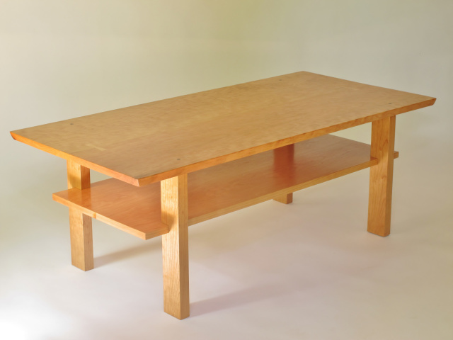 Cherry Coffee Table  A Narrow Coffee Table Handmade In The USA From Solid  Wood