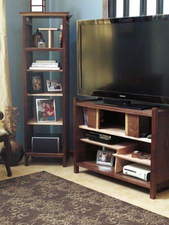 Our tall case provides a stylish place for storing media components and displaying family photos favorite books and art.