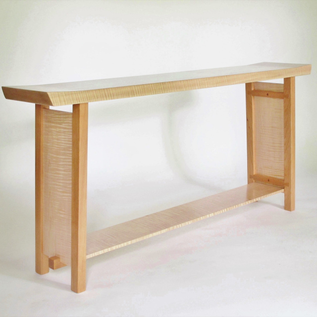Modern narrow console tables entry tables and hall for Narrow console table modern