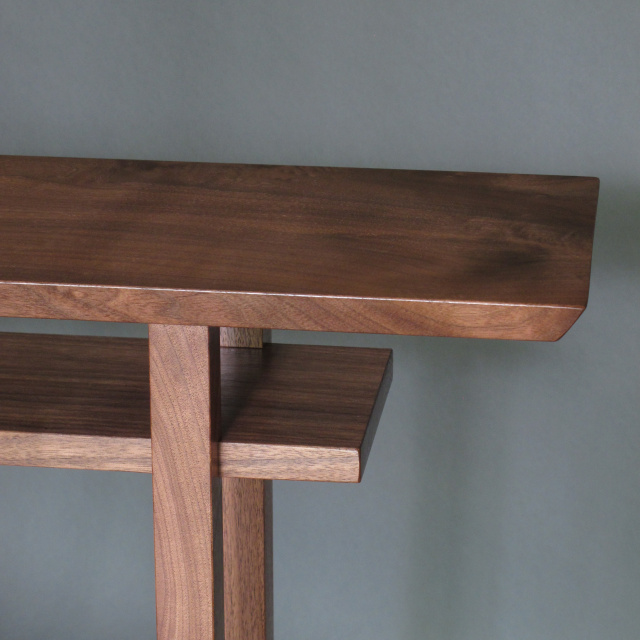 Narrow Bar Table- Console Table, Walnut Bar Table, Sofa Table- Handmade Wood Furniture/ Custom Tables