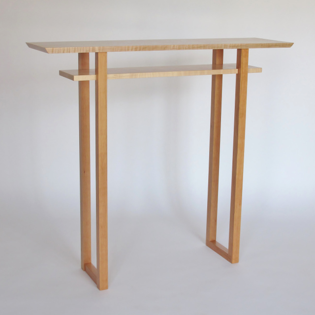 Custom Classic Hall Table: get the perfect narrow table for your space with our custom table options.  Build a narrow hall table, wood entry table or artistic side table with Mokuzai Furniture
