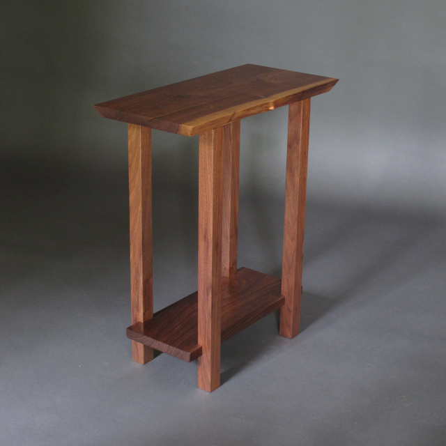 Small Narrow Table- Handmade wood furniture- Modern style for a narrow end table, narrow side table or accent table for small spaces.