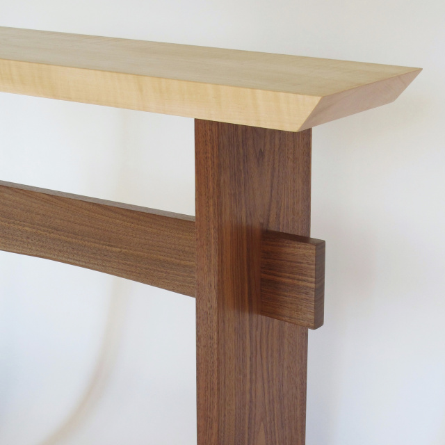 Custom Statement Table: Modern Wood Table For Your Narrow Hall Table, Entry  Console Table