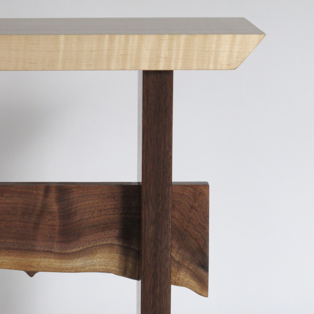 Custom Furniture- small narrow table, accent tables for small spaces, tall entry table or small hallway table- Solid wood furniture Handmade in the USA