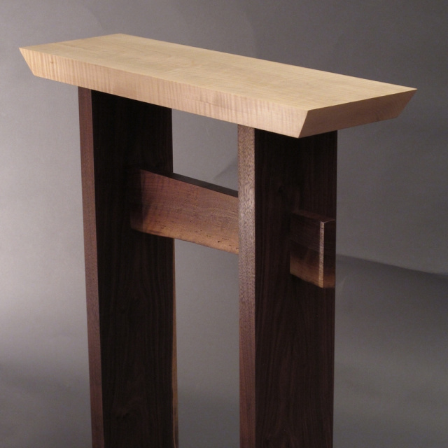 Custom Furniture- narrow side table, small entry table, narrow hall table, accent tables for small spaces- Solid Wood Furniture Handmade in the USA