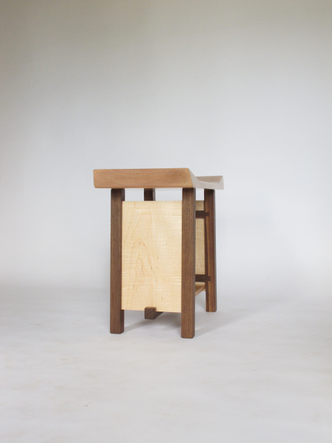 Shaped Entryway Bench Narrow Wooden Bench With Artistic
